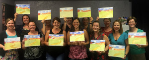 Paint night photo