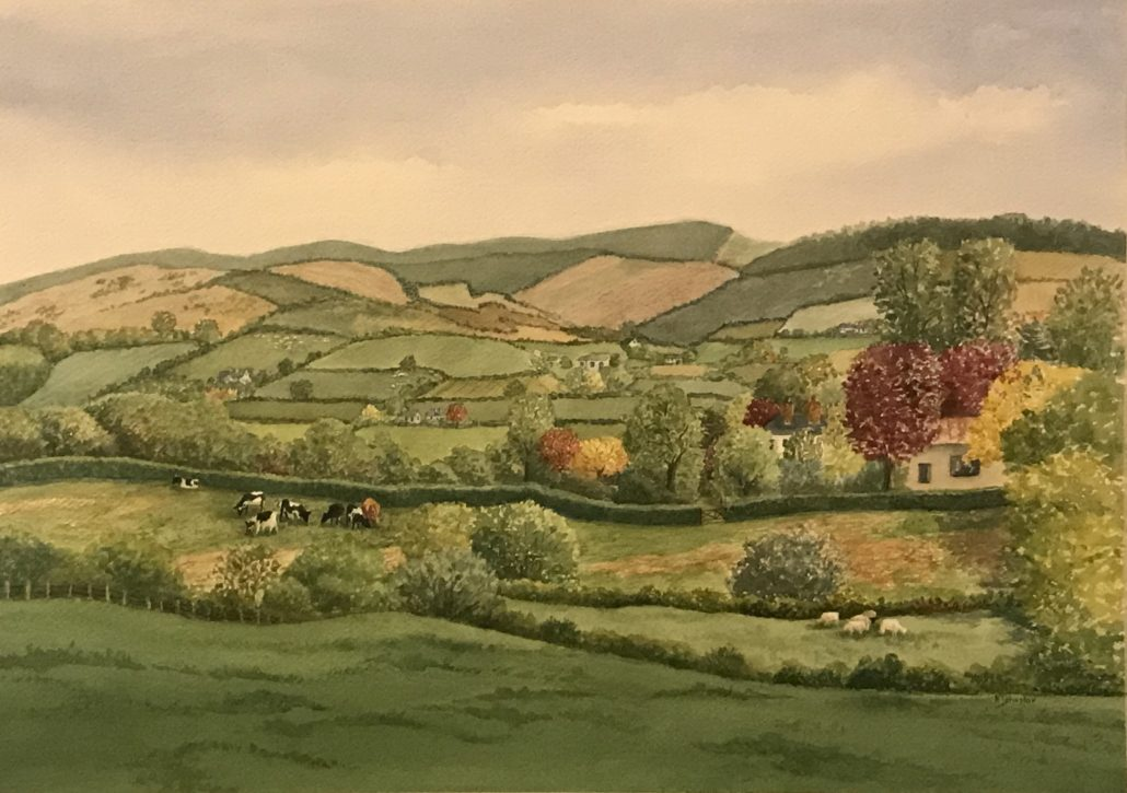 watercolor of Tyrone County