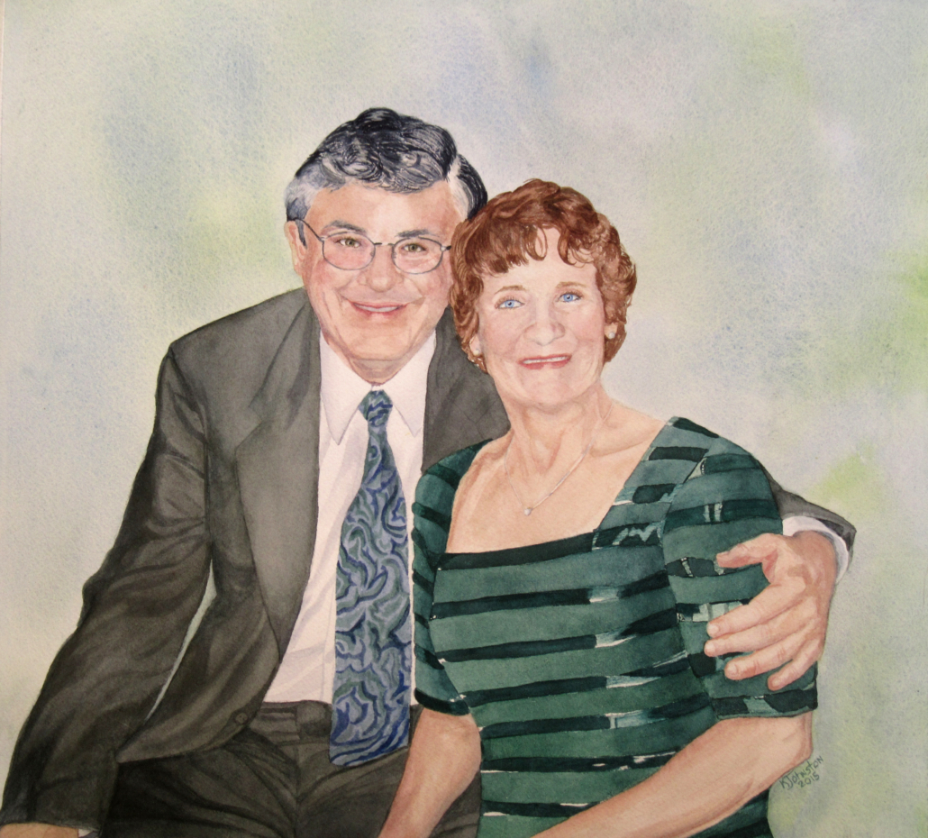 watercolor of couple