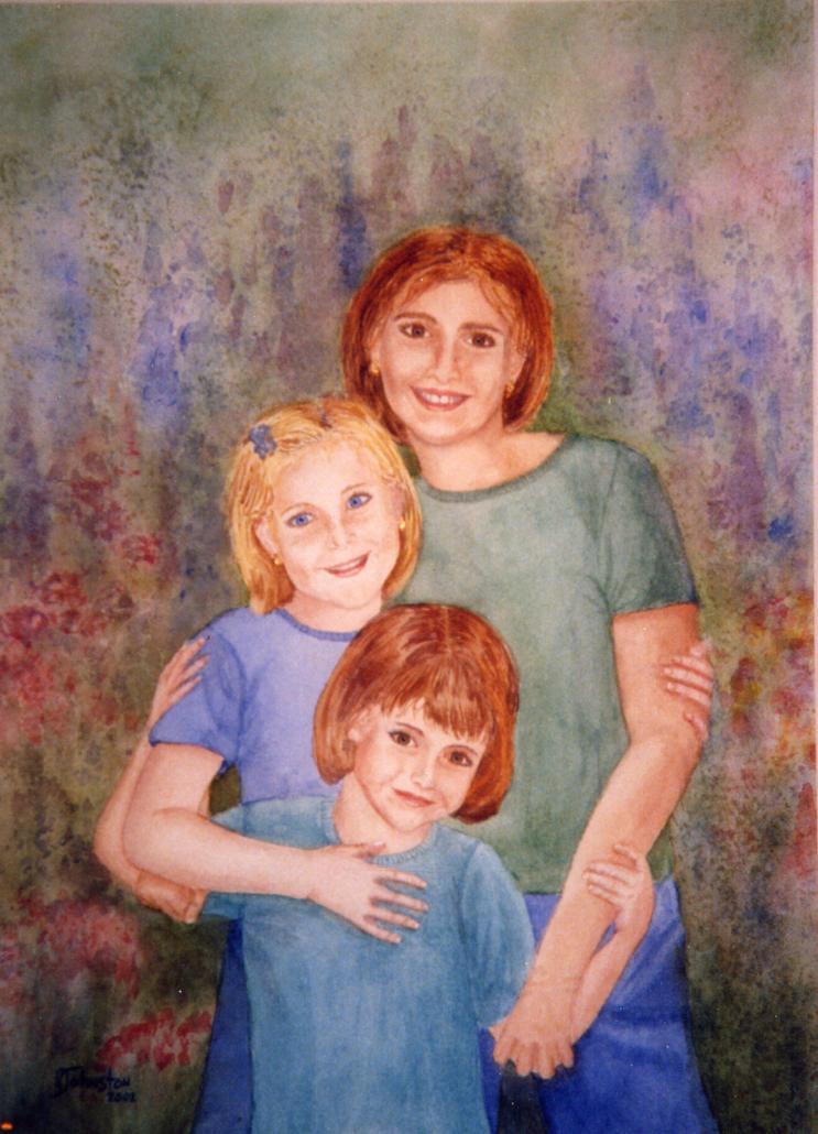 watercolor of children