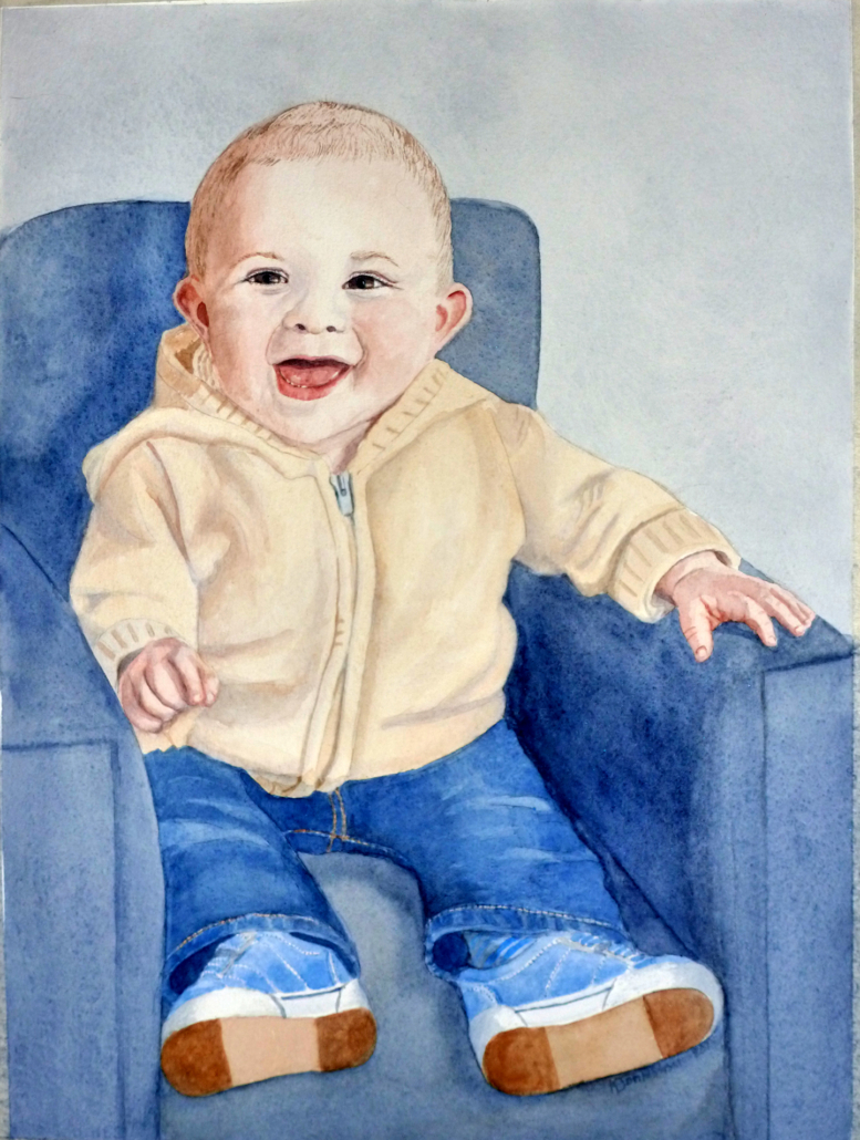 watercolor of baby